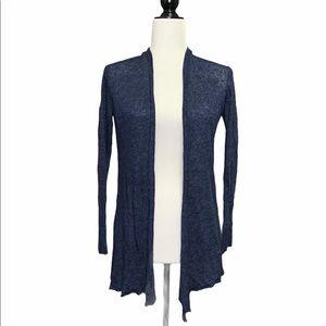 Eileen Fisher Pure Linen Dark Blue Cardigan